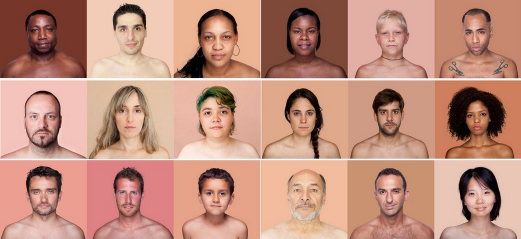 Angelica Dass skin color Pantone project