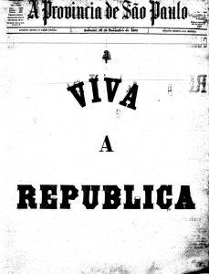Estado de S.Paulo Brazil's Republic day