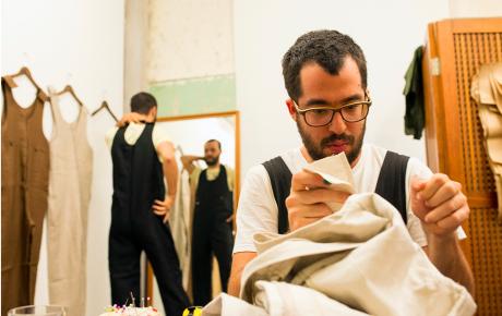 Floraissance André Feliciano Brazilian contemporary art overalls