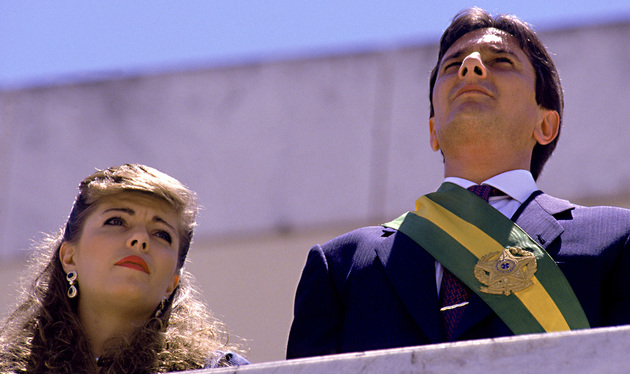 Fernando Collor during his inauguration as president
