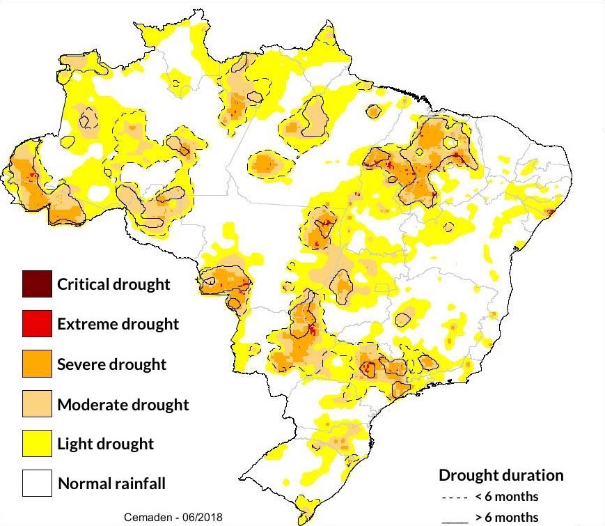 drought brazil northeast agribusiness coffee soybeans sugarcane