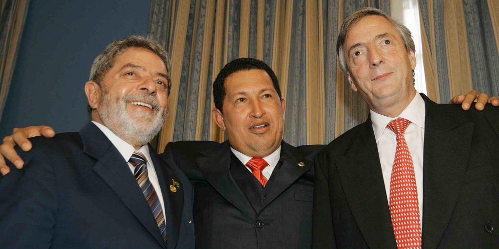 Lula, Chavez, Kirchner