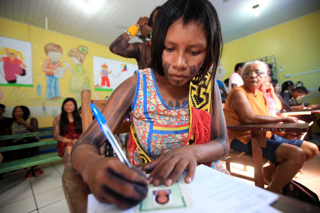 indigenous schools illiteracy brazil land rights