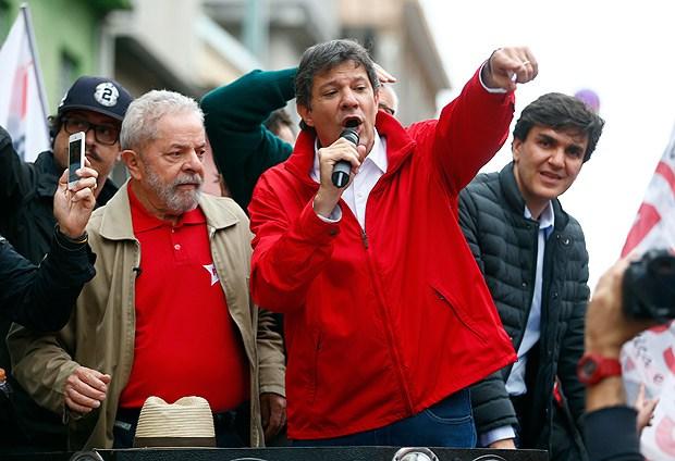 Lula and Fernando Haddad polls