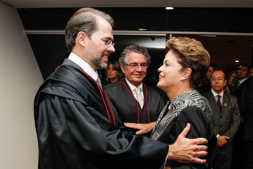 Dias Toffoli and Dilma Rousseff