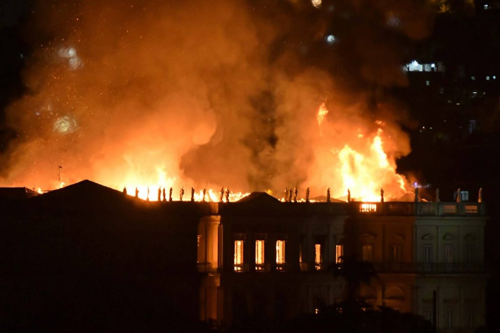 "Image result for RIO De Janeiro National Museum Destroyed by Fire, ""Sep 03, 2018"""