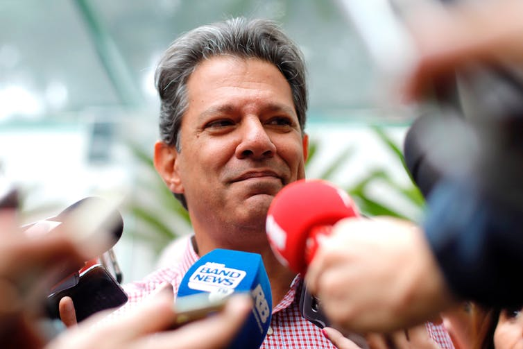 Center-left candidate Fernando Haddad