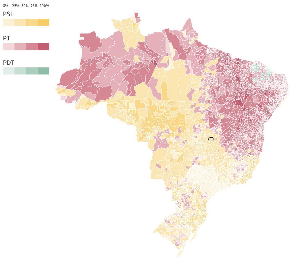 brazil electoral map