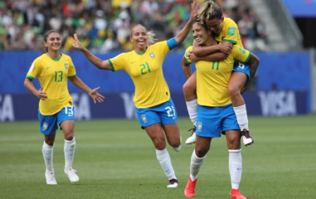 Women's football brazil jamaica world cup 2019 france