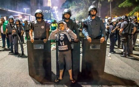 Supporters celebrate Bolsonaro victory in São Paulo