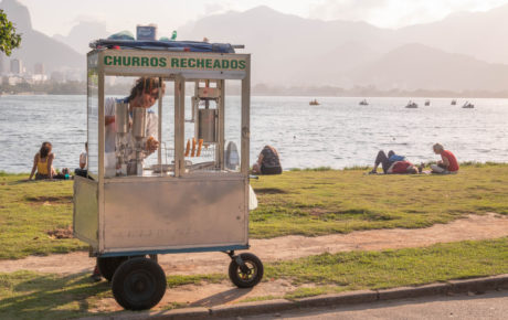 mei Brazil's tax system for entrepreneurs reflects a changing labor landscape Worker selling churros in Rio de Janeiro
