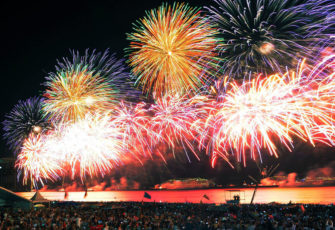 New Year celebrations at Copacabana Beach