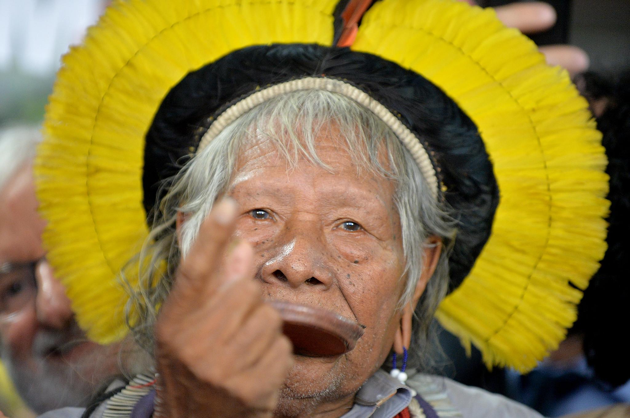 chief raoni brazil indigenous leader