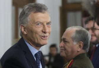 Argentina outgoing President Mauricio Macri