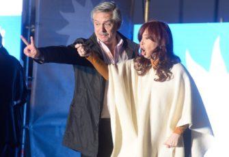 Presidential candidate Alberto Fernández with his running mate, former President Cristina Fernandez de Kirchner. Photo Julio Gelves