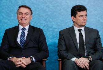President Bolsonaro (L) and Justice Minister Moro. Photo: Alan Santos/PR