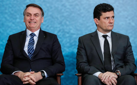 President Bolsonaro (L) and Justice Minister Moro. Photo: Alan Santos/PR