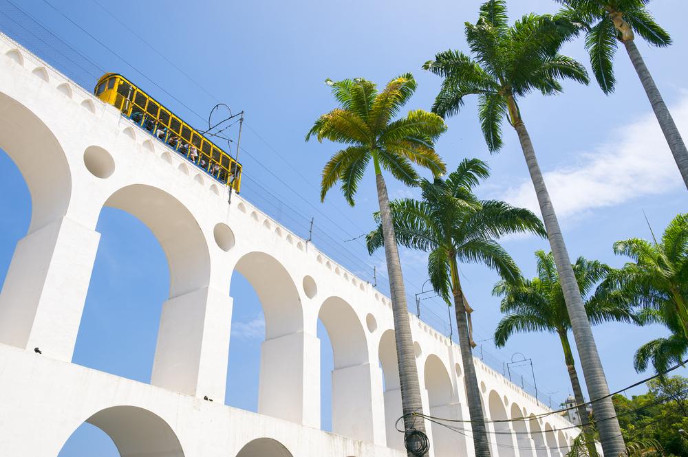 the landmark Lapa Arches in Rio de Janeiro