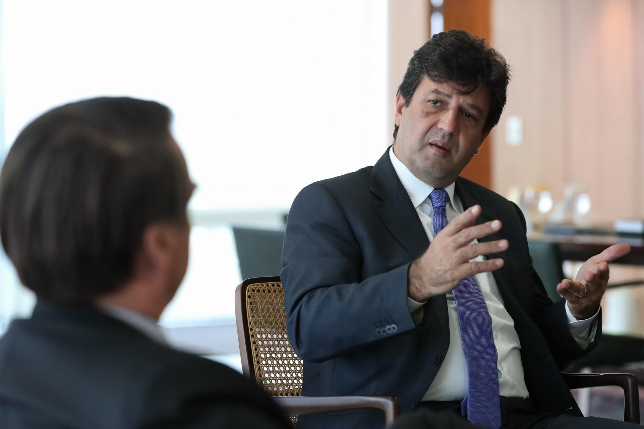 Luiz Henrique Mandetta Jair Bolsonaro Health Minister anti-vax coronavirus