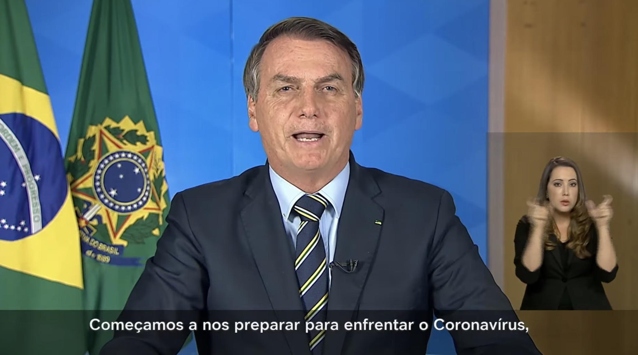 bolsonaro address coronavirus