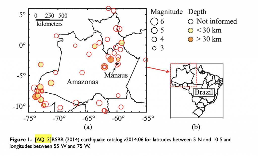 Fraturação do terremoto de Manaus