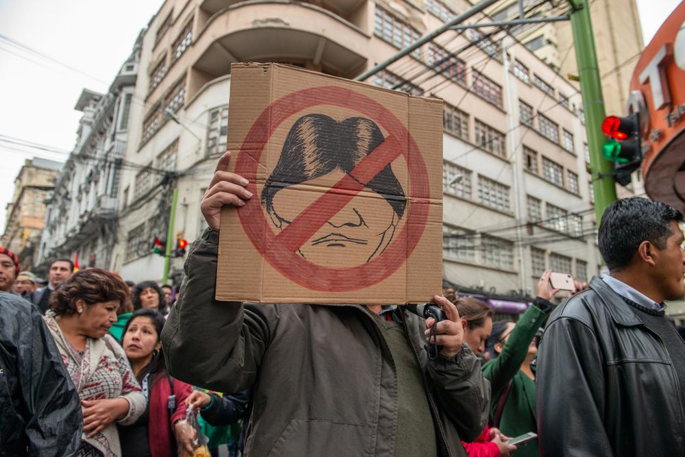 Protesto anti-Evo Morales na Bolívia